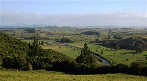 Otorohanga landscape and Waipa River valley