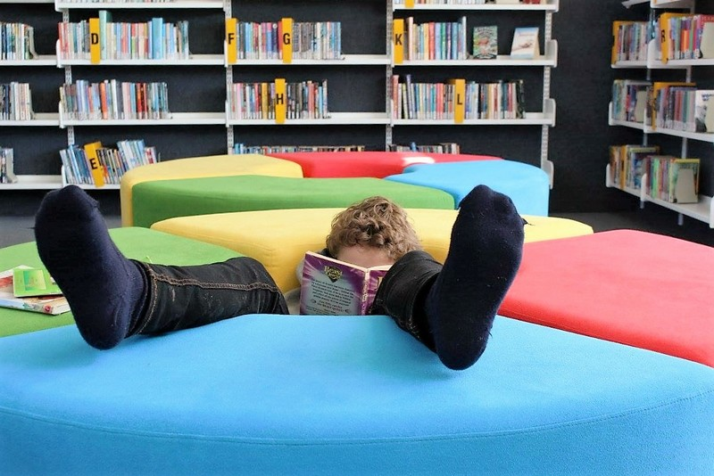 Reading relaxation at South School library